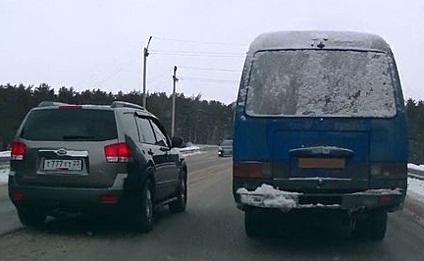 Вождение автомобиля по шоссе