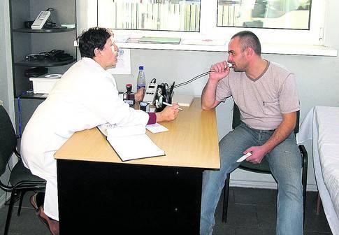Проверка на алкоголь в медучереждении