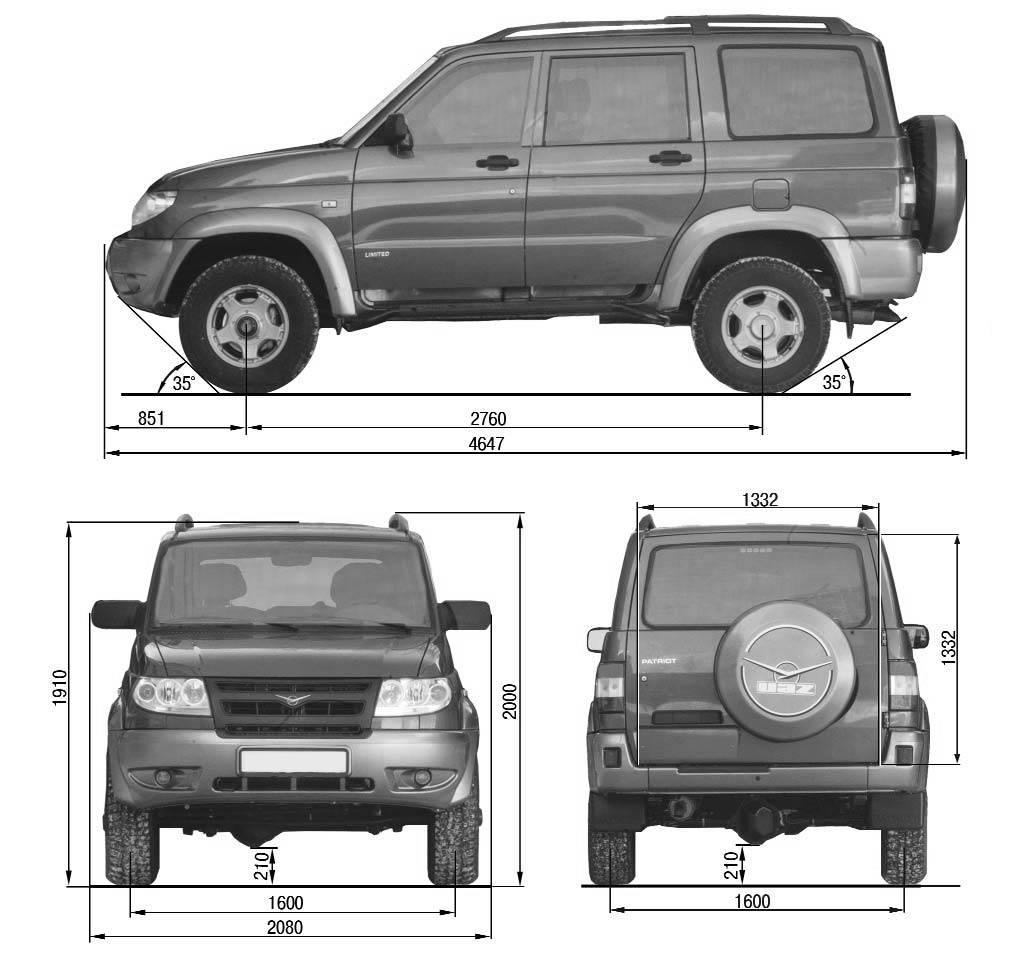 Внешний вид УАЗ 3163 partiot