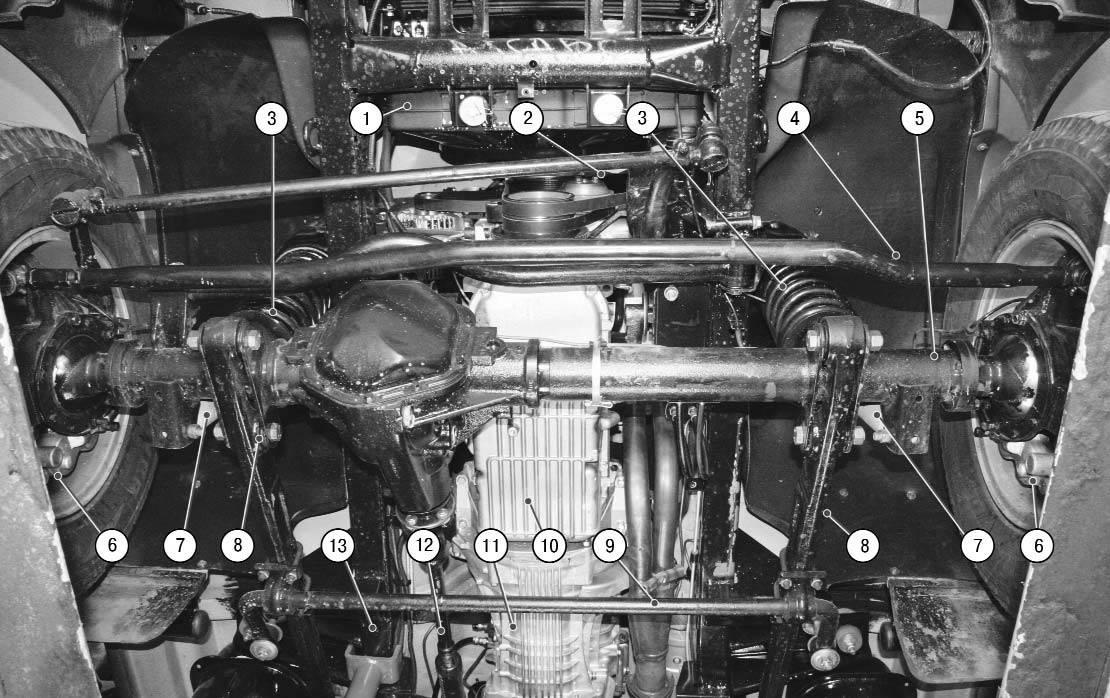 Вид снизу УАЗ 3163 (uaz