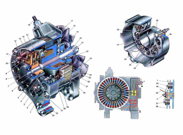 Схема генератора Ваз 2101/2102