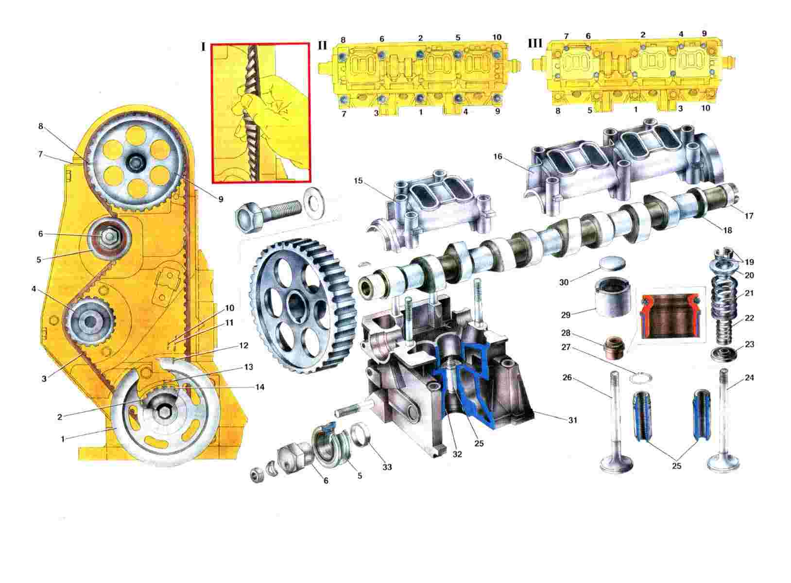 Схема ГРМ Ваз 2108/2109/21099