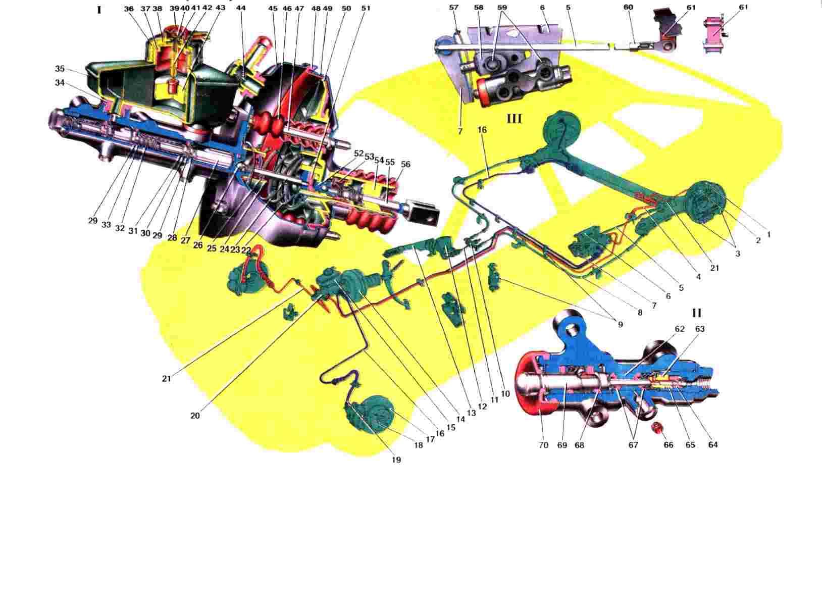 Схема привода тормозов Ваз 2108/2109/21099