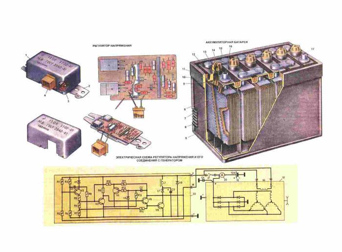 Схема регулятора напряжения Газ 31029