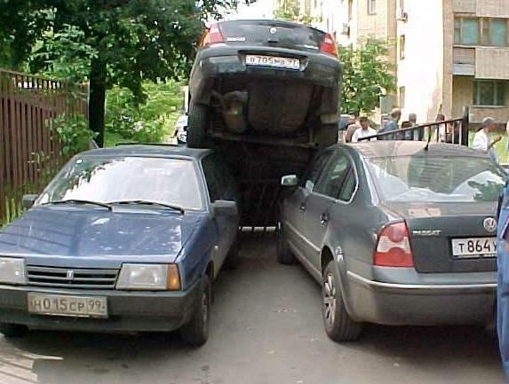 Виды парковки автомобиля