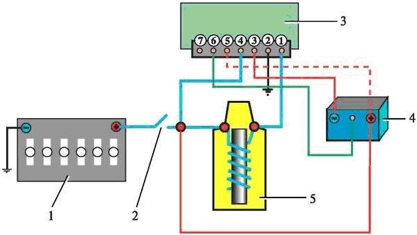схема электрической цепи низкого напряжения