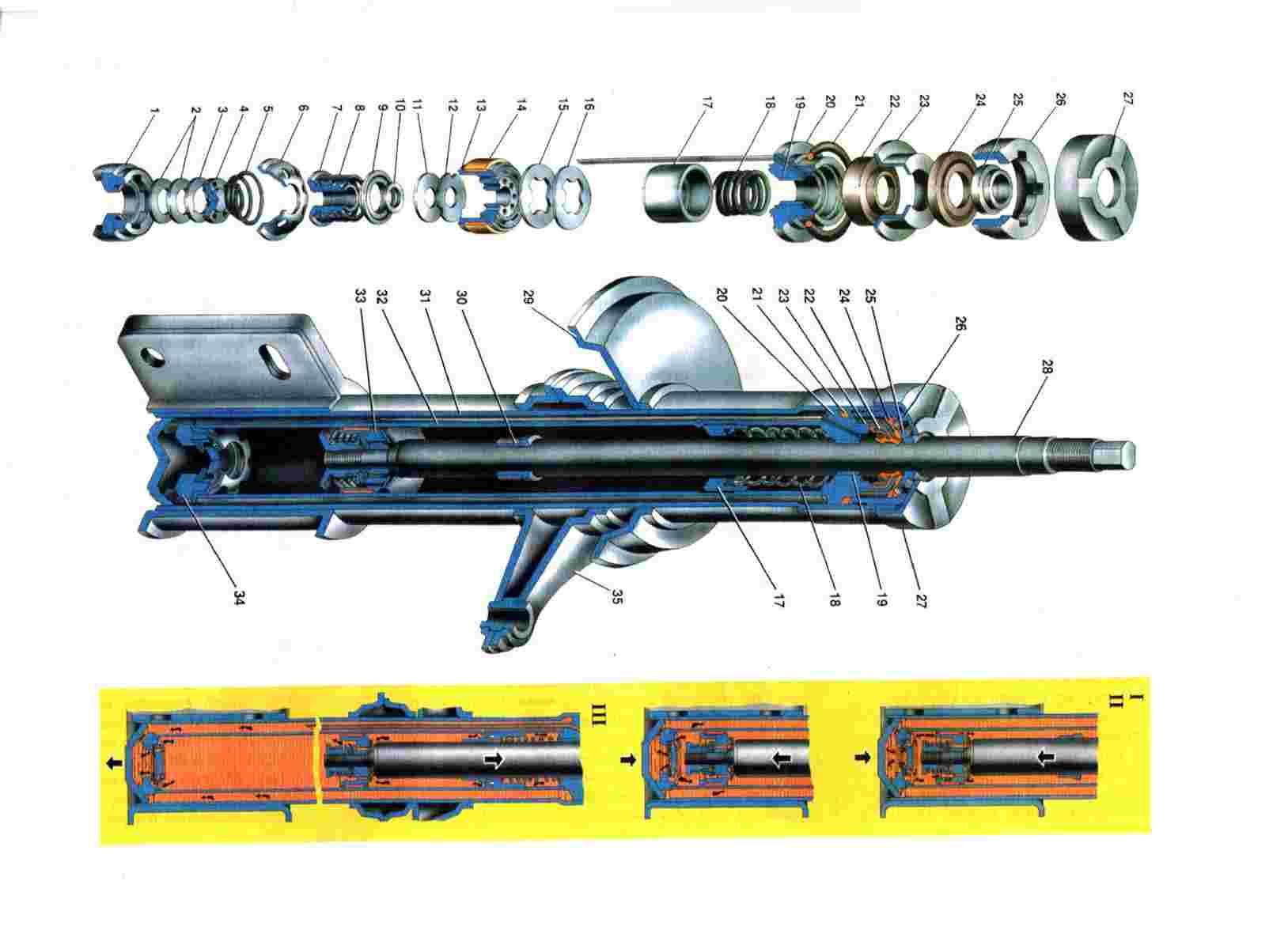Схема передних амортизаторов Ваз 2108/2109/21099