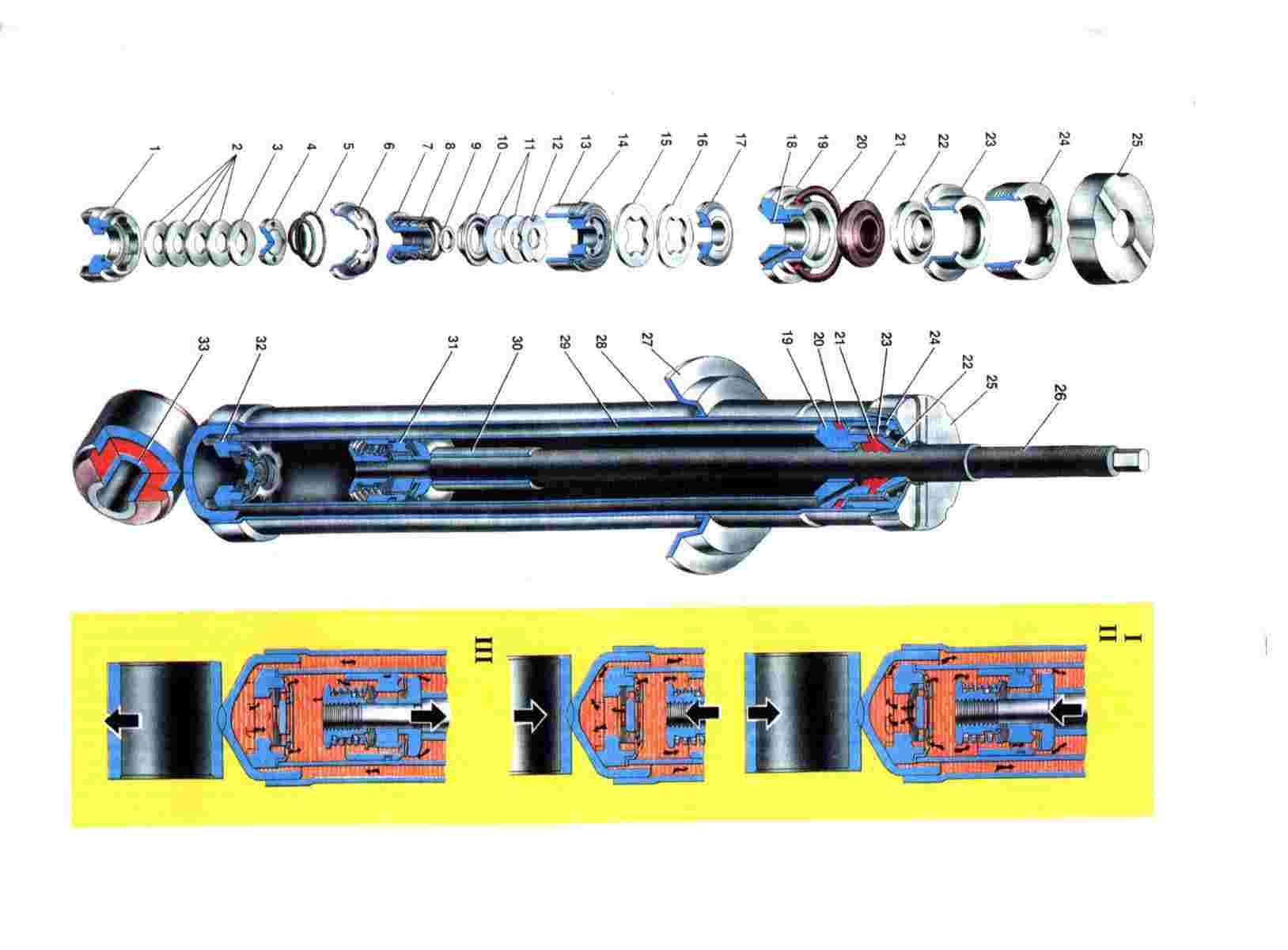 Схема задних амортизаторов Ваз 2108/2109/21099