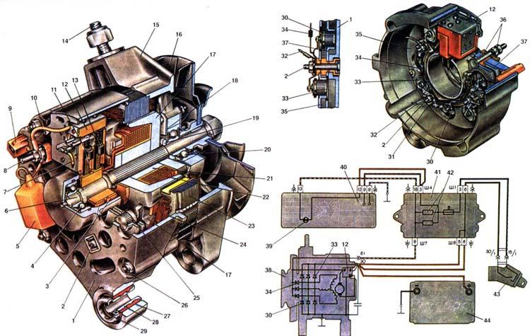 Схема генератора Ваз 2108/2109/21099
