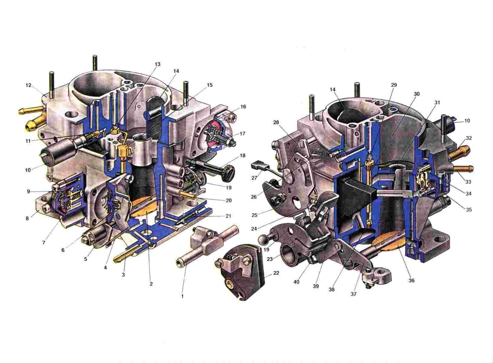 Схема карбюратора Ваз 2108/2109/21099