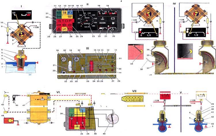 Схема приборной панели Ваз 2108/2109/21099