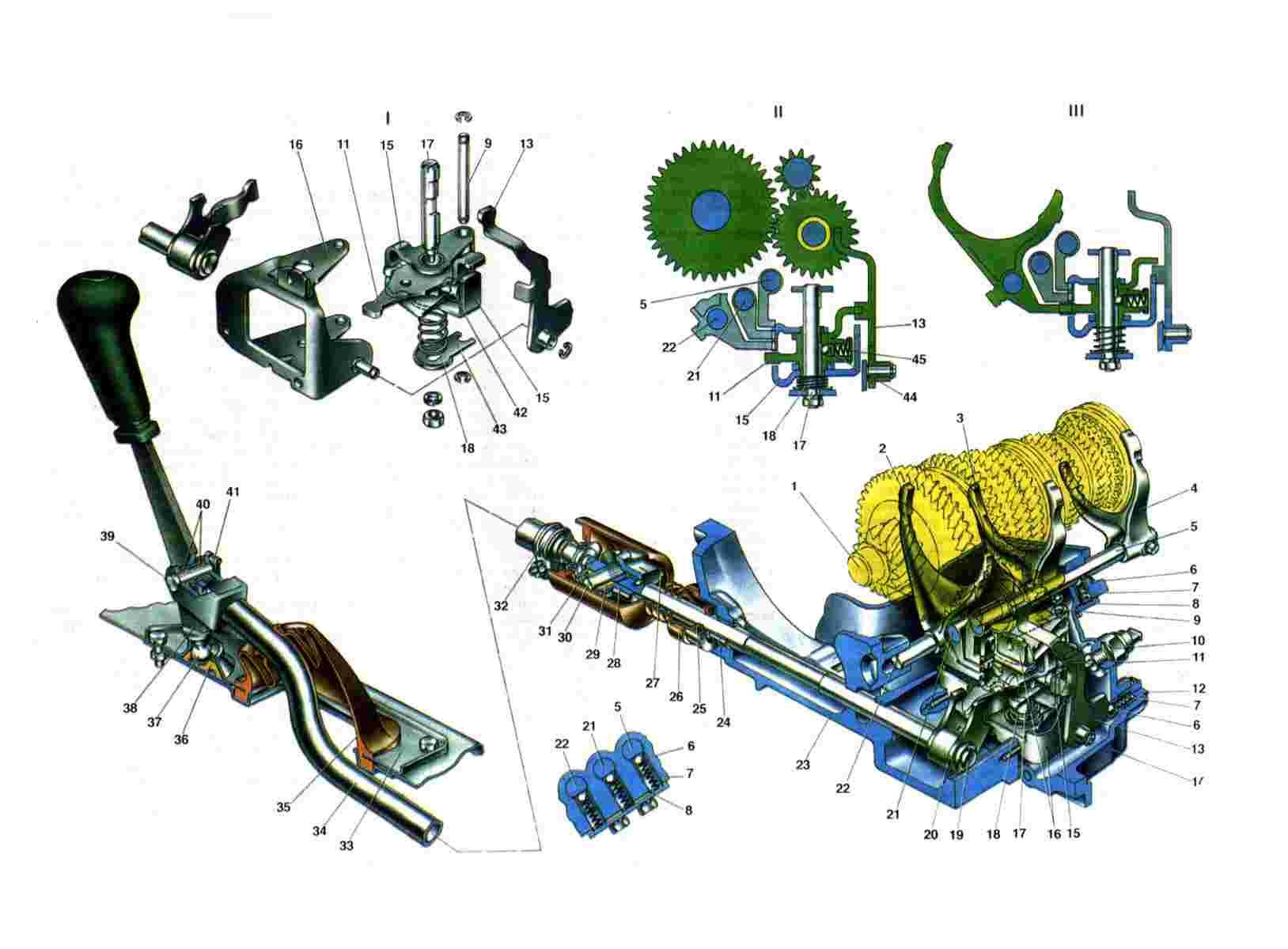 Схема привода КПП ВАЗ 2108/2109/21099