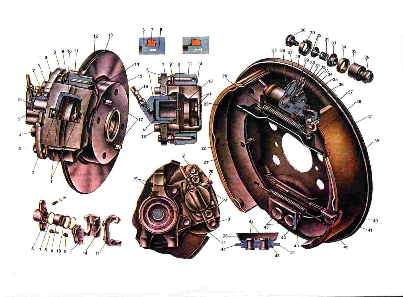 Схема тормозной системы Ваз 2108/2109/21099